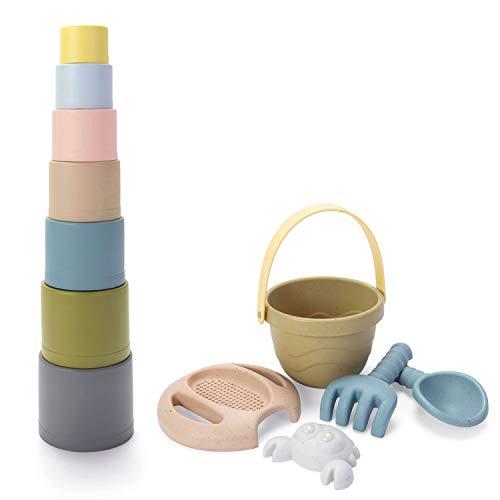 Dantoy® tiny BIO Eimerset + Stapelbecher Sandkastenspielzeug Kinder Kids