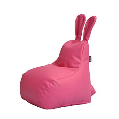 XuZeLii Bolsa De Frijoles Sofá De Silla De Bolsas De Frijoles para Niños Sillón Reclinador Bolso De Frijol para El Hogar De Jardín Muebles Ideales para El Dormitorio (Color : Pink, Size : 50x50x40cm)