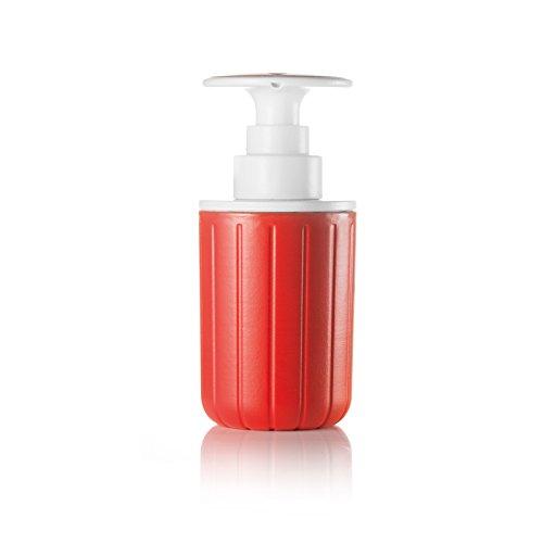 Guzzini Dosasapone Push&Soap Kitchen Active Design, Rosso, 7.2 x h15.7 cm