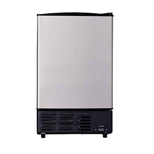 SMETA 15 Inch Wide Built-In Ice Maker 12 lbs Undercounter Ice Machine with Freezer to Store 6 Pounds Ice, Stainless Steel