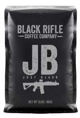 Black Rifle Coffee Company 5 Pound Bag of Black Rifle Ground Coffee (Just Black)