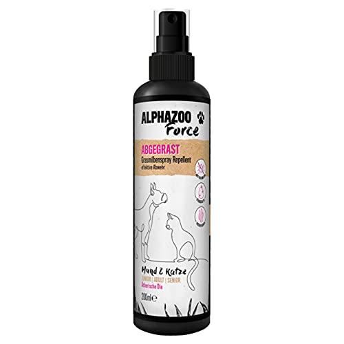 alphazoo Abgegrast Grasmilbenspray Hund & Katze 200 ml, Schutz gegen Grasmilben & Milben, Mittel gegen Juckreiz aus natürlichen Ölen, pflegt die Haut bei Reizungen, Milbenspray bei Milbenbefall