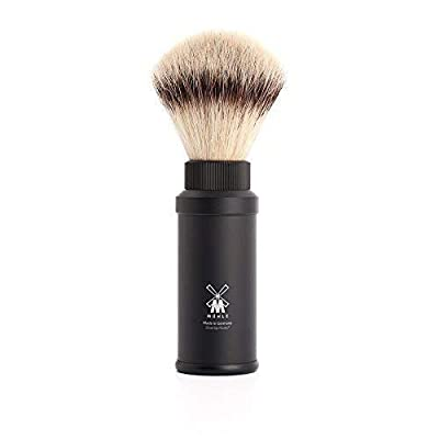 Muhle Synthetic Silvertip Fibre Travel Shaving Brush with Black Handle