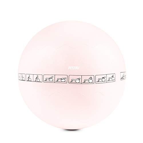 FITFIU Fitness FITBALL-PAT - Fitball 65cm Rosa ejercicio
