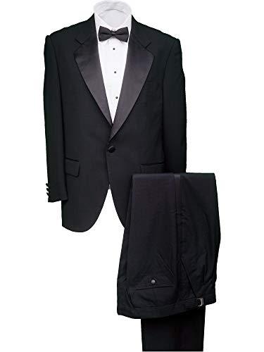 Broadway Tuxmakers Herren Tuxedo-Jacke aus 100% Wolle, 1 Knopf - Schwarz - 47 Regulär