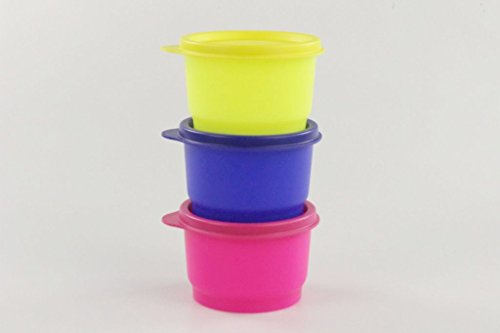 TUPPERWARE Kinder Kunterbunt 120 ml NEON blau gelb pink Dosen Box Drillinge 17248