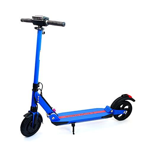 E-Town Racer - Patinete eléctrico para Adulto, Color Azul