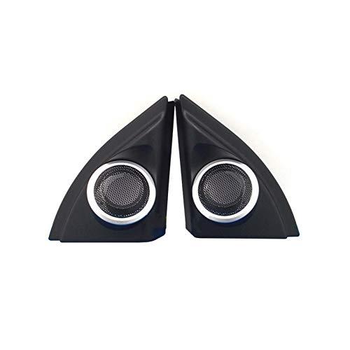 CAIBING Trompeta Tweeter Cover Fit para Toyota VIOS Yaris 2013-2019 Series Serie High Pitch Trumpet Tapa Treble Audio Horn Shell Decoración Reemplazo de Piezas (Color : Silver Edge)