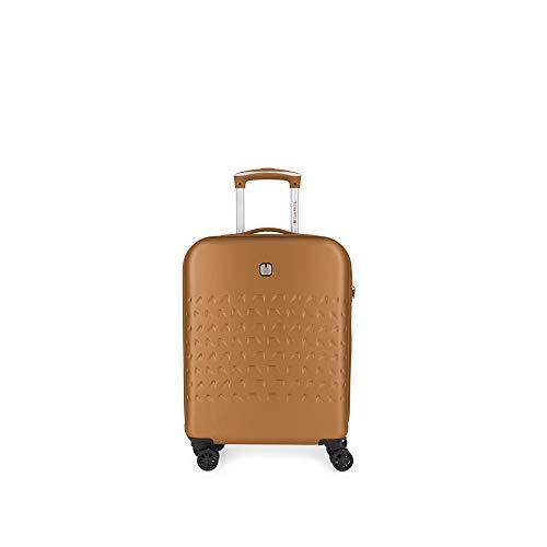 Gabol - Duke | Maleta de Cabina Rigidas con Cargador USB de 39 x 55 x 20 cm con Capacidad para 36 L de Color Naranja