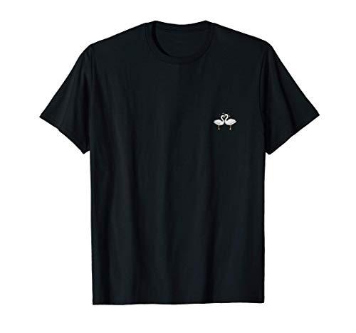 CISNE Parejas Regalo Boda Aniversario San Valentín Camiseta