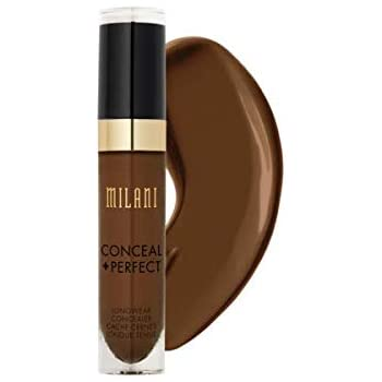 Milani Conceal + Perfect Longwear Concealer - Cool Cocoa (0.17 Fl. Oz.) Vegan, Cruelty-Free Liquid Concealer - Cover Dark Circles, Blemishes & Skin Imperfections for Long-Lasting Wear