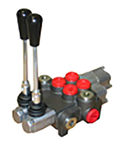 Chief P40 G Series Directional Control Valve Loader: 2 Spool, 3 Position Spring Center and 4 Position Float, 10 GPM, 3625 PSI, SAE #10 Inlet and Outlet, SAE #8 Work Ports, 220956