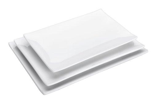 Lacor - 62791 - Bandeja Melamina Rectangular Classic 248x160x23cm - Blanco