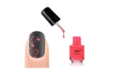 Vernis stamping Couleur Néon Fluo Rose nail art - Nded - 5ml - Ref8961