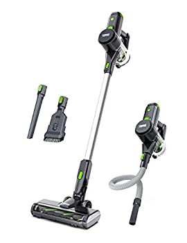 TOPPIN Cordless Stick Vacuum Cleaner - 23KPa Powerful Suction for Pet Family 8 in 1 Lightweight Stick Handheld Vacuum with 34min Detachable Battery 250W Brushless Motor for Hard Floor Carpet Car