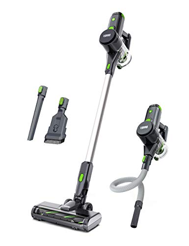 TOPPIN Cordless Stick Vacuum Cleaner - 23KPa Powerful Suction for Pet Family, 8 in 1 Lightweight Stick Handheld Vacuum with 34min Detachable Battery, 250W Brushless Motor for Hard Floor Carpet Car
