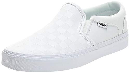 Vans Herren Asher Sneaker, Weiß Checkerboard White White, 46 EU
