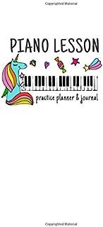 Unicorn Piano Lesson Practice Planner & Journal