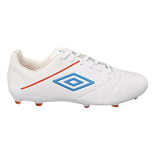 Umbro Medusae III Pro FG Soccer Cleats, White, 10.5