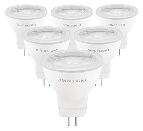 LED MR11 Reflektorlampe, 12V AC/DC, mit GU4-Sockel, nicht dimmbar, 250 Lumen Ersetzt 25 Watt Halogenlampen, 35° Ausstrahlungswinkel, Warmweiß - 2700 Kelvin, 6er-Pack