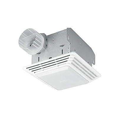 HD80L Heavy Duty Ventilation Fan Combo for Bathroom and Home, 100-Watt Incandescent Light, 80 CFM, White