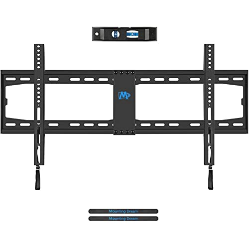 """Mounting Dream Fixed TV Wall Mount TV Bracket for 42-70 Inch Flat Screens LED OLED LCD TV, Slim Flat TV Mount Flush Low Profile for Max 132 LBS, VESA 800X400mm, 8"""" 12"""" 16' 18' 24' 32"""" Stud, MD2361-32"""