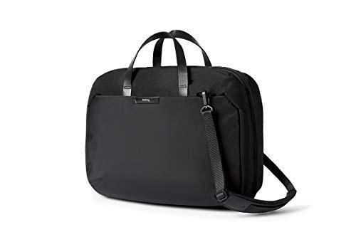 """Bellroy Flight Bag (Professional Carry-on Shoulder Bag, Fits 16"""" Laptop, Clamshell Design, Hideaway Backpack Straps) - Black"""