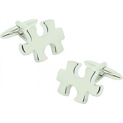 Sudoku Puzzle gemelos plata esterlina grabados de Verificación opcional