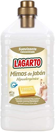 Lagarto Suavizante Concentrado Mimos Al Jabon 60 Lavados Hipoalergenico - 500 Gr, Blanco