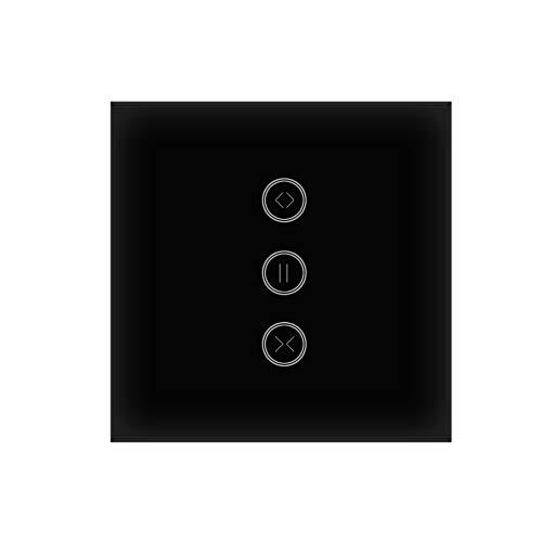 Rolladen Zeitschaltuhr, Jinvoo Intelligent Vorhang Jalousien Schalter, APP Fernbedienung, Timing-Funktion, Brauchen Neutral, Kompatibel mit Alexa/Google Home, Unterstützt von Tuya (Curtain 1 Pack)