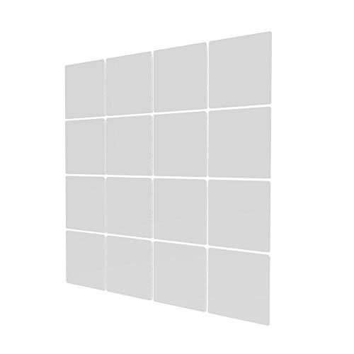 Panel Divisor para En Casa de 16 Piezas - 117.5x117.5cm - Blanco Biombos De Oficina para Separar Ambientes para Estantes Y Escritorios
