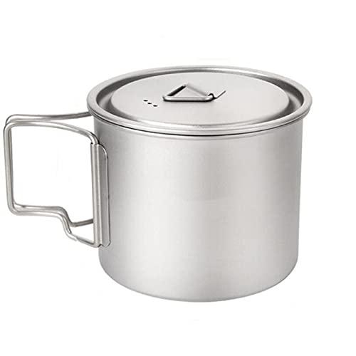 Aiasiry Taza con asa Plegable para Exteriores Taza portátil para Acampar Taza de café para cocinar Comida campestre (550Ml)