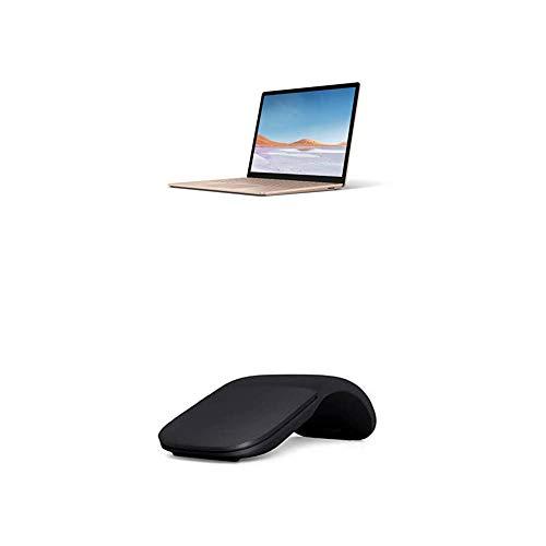 Microsoft Surface Laptop 3, 13,5 Zoll Laptop (Intel Core i5, 8GB RAM, 256GB SSD, Win 10 Home) Sandstein + Arc Mouse Schwarz