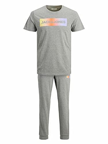 Jack&Jones Herren JACBRAD Pants Tee Set Sportanzug, Light Grey Melange/Pack:/ Light Grey Melange, L