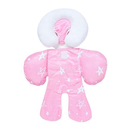 Manyao - Cojín reductor para silla alta, cojín universal de peluche, cojín de asiento, cojín de apoyo cómodo (rosa)
