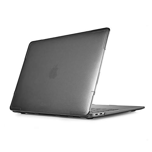 tomtoc Slim Hardshell Case Compatible with 13-inch MacBook Air M1/A2337 A2179 A1932 2018-2021, Premium Material, Easy to Install/ Removal, Anti-Scratching Protective Cover for MacBook Air, Grey