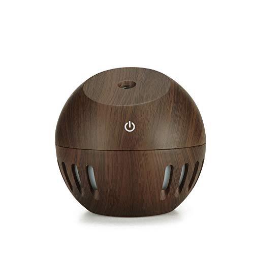 USB Humidificador con 7 Luces De Calor Led, Pequeño Humidificador para Escritorio Viaje Oficina Coche Dormitorio, Operación Silenciosa Y Auto Cierre-Apagado Portátil Y Personal Humidificador-Oscuro