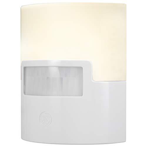GE Enbrighten LED Night Light, Motion Sensor, Plug-in, 40 Lumens, UL Listed, Ideal for Bedroom, Nursery, Bathroom, Kitchen, Hallway, White, 12201