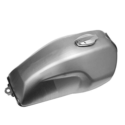 XIOSOIAHOU Tanque de Combustible Raw Metal Cafe Retro Modificado Motocicleta Tanques de Gasolina Vintage 17-18L Motorbike Gasoline Tank Fit para Honda GB250