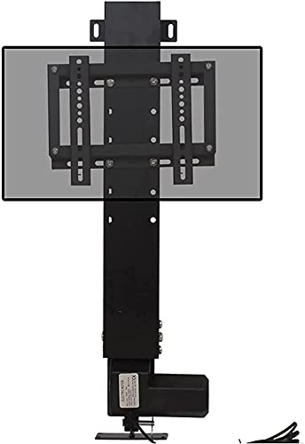 TV Stand Floor-Standing Hidden TV Stand Height Adjustable Remote Control Smart TV Stand for 14'-32' TV (Color : Black)