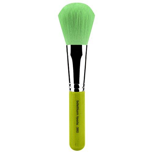 Bdellium Tools - Pennello da viso, per sfumare fondotinta in polvere, professionale, in bambù, colore: verde