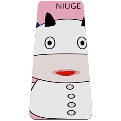 nakw88 Alfombrilla de yoga antideslizante con globo para yoga, pilates y entrenamientos de suelo (72 x 24 x 6 mm) para mujeres y niñas