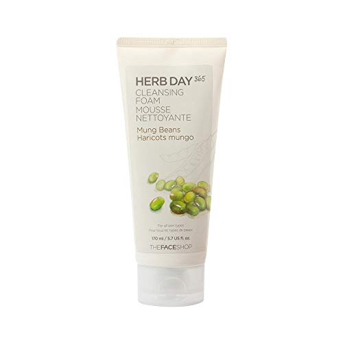Herb Day 365 Cleansing Foam - Mung Beans - For All Skin Types - 170ml/5.74oz