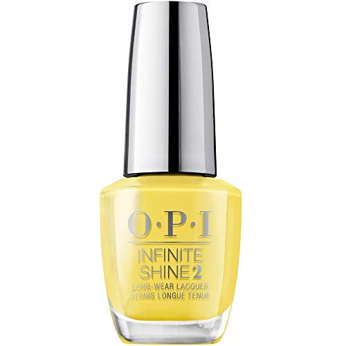 OPI Infinite Shine 2 Long-Wear Lacquer, Don't Tell a Sol, Yellow Long-Lasting Nail Polish, Mexico City Collection, 0.5 fl oz