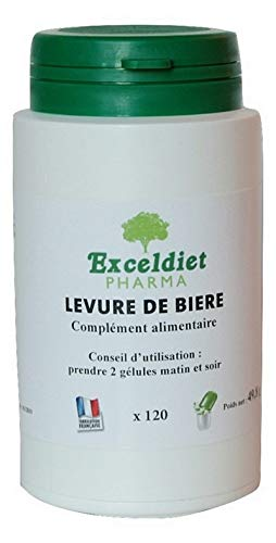 Exceldiet Pharma biergist | haar | nagels – huid | 60 capsules chlorofyl | 340 mg pure biergist per capsule