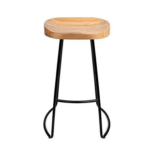 Home-life Industrie Barhocker Stuhl Fußstütze Holz Ergonomie Sitz Stühle Zum Frühstück Restaurant Pub (größe : Seat Height:65cm)