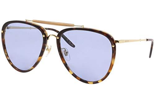 Gucci gafas de sol GG0672S 004 gafas de Hombre color Havana azul tamaño de la lente de 58 mm