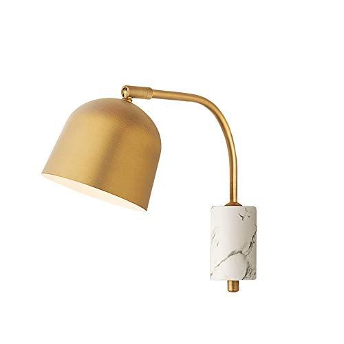 Lyuez draaibare wandlamp lichte lijn slaapkamer nachtkastlamp eenvoudig design lange arm messing met draadstekker schakelaar wip wandlamp badkamerspiegel schijnwerper