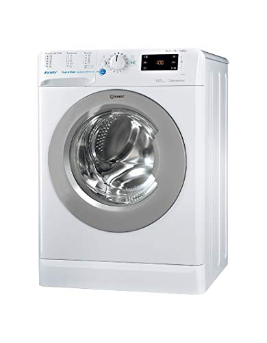 Indesit BWE 91484X WSSS EU Independiente Carga frontal 9kg 1400RPM A+++ Blanco - Lavadora (Independiente, Carga frontal, Blanco, Botones, Giratorio, Izquierda, Acero inoxidable)