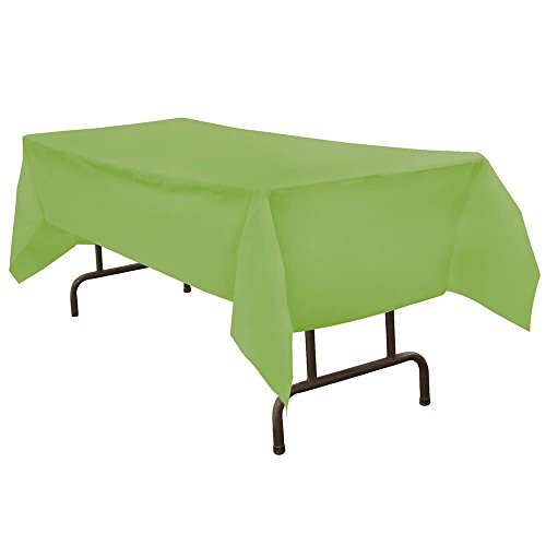 JAM Paper Rectangular Plastic Table Cover - Lime Green - 54 x 108 in - Sold Individually